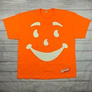 Vintage 90s Kool Aid Man Orange Face T Shirt